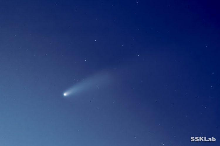 ネオワイズ彗星(茨城・涸沼)